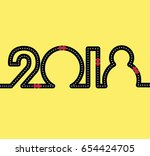 happy new year concept   road... | Shutterstock .eps vector #654424705