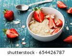 Bowl Of Oatmeal Porridge With...