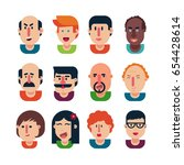 avatar people set in an... | Shutterstock .eps vector #654428614