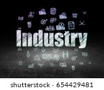 finance concept  glowing text... | Shutterstock . vector #654429481