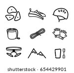 rock climbing equipment vector... | Shutterstock .eps vector #654429901