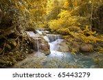 An Autumn Waterfall In The...