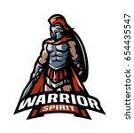 the roman warrior logo. | Shutterstock .eps vector #654435547