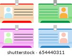photo id card  identity card... | Shutterstock .eps vector #654440311
