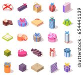 large set of different gift... | Shutterstock .eps vector #654441139