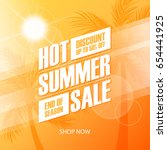 hot summer sale special offer... | Shutterstock .eps vector #654441925