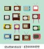 Vintage Television Vector Set