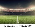 soccer field with illumination  ...