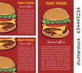 fast food banners or poster... | Shutterstock .eps vector #654445234