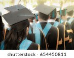 selective focus on bachelor... | Shutterstock . vector #654450811