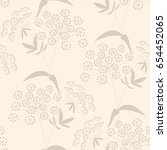 seamless pattern with floral... | Shutterstock .eps vector #654452065