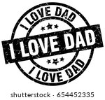 i love dad round grunge black... | Shutterstock .eps vector #654452335
