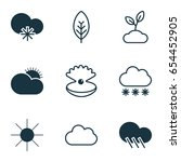 wheather icons set. collection... | Shutterstock .eps vector #654452905