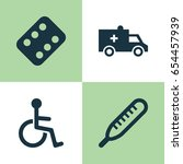 drug icons set. collection of... | Shutterstock .eps vector #654457939