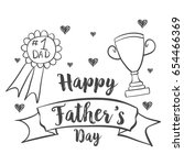 happy father day design hand... | Shutterstock .eps vector #654466369
