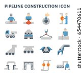 pipeline construction industry... | Shutterstock .eps vector #654470611