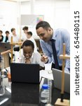 high school students studying... | Shutterstock . vector #654480115