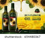 sunflower oil contained in... | Shutterstock .eps vector #654480367