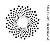 abstract circular. digital... | Shutterstock .eps vector #654484489