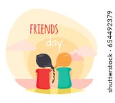 friends day fun pastime with... | Shutterstock .eps vector #654492379