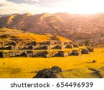 fort sacsayhuaman and cuzco... | Shutterstock . vector #654496939
