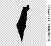 israel map isolated on... | Shutterstock .eps vector #654499819