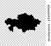 kazakhstan map isolated on... | Shutterstock .eps vector #654499909