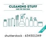 vector illustration poster  of... | Shutterstock .eps vector #654501349