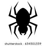 spider black icon vector | Shutterstock .eps vector #654501559