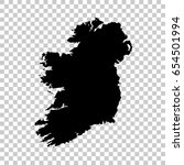 ireland map isolated on... | Shutterstock .eps vector #654501994