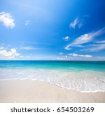 beach and tropical sea | Shutterstock . vector #654503269