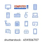 network and mobile devices... | Shutterstock .eps vector #654506707