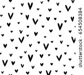 seamless vector pattern made of ... | Shutterstock .eps vector #654508384