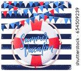 vintage striped vest background ...   Shutterstock .eps vector #654509239