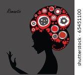 romantic girl | Shutterstock .eps vector #65451100