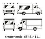 blank commercial food truck in...   Shutterstock .eps vector #654514111