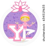 y is for yoga   Shutterstock .eps vector #654519655