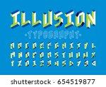 vector of modern abstract font... | Shutterstock .eps vector #654519877