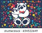 nice cute celebration banner... | Shutterstock .eps vector #654522649