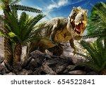 Scene Of The Giant Dinosaur...