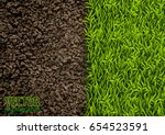 image of soil and green grass... | Shutterstock .eps vector #654523591