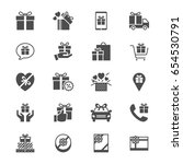 gift flat icons | Shutterstock .eps vector #654530791