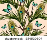 beautiful seamless vector... | Shutterstock .eps vector #654530809