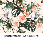 beautiful seamless vector... | Shutterstock .eps vector #654530875