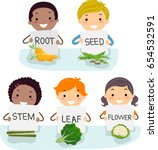 illustration of stickman kids... | Shutterstock .eps vector #654532591