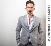 handsome young elegant man in... | Shutterstock . vector #654532957
