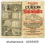 old book page from 1717 about... | Shutterstock . vector #6545455