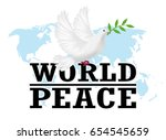 World Peace With White Pigeon...