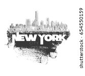new york city  vector... | Shutterstock .eps vector #654550159