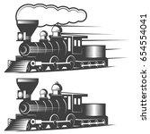 locomotive vector illustration... | Shutterstock .eps vector #654554041